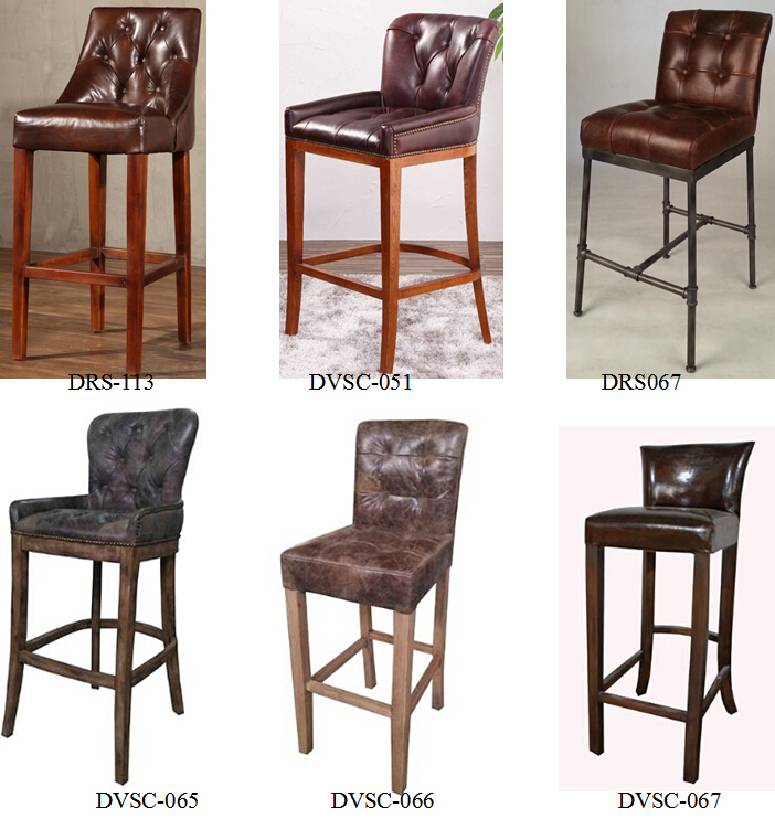 Leather Vintage Bar Stool Chairs Jpg