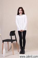 china supplier women fashion tshirts/bag buttons cardigan sweater