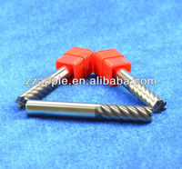 hot sales 6 flute micro grain carbide 45 degree end mill with flate