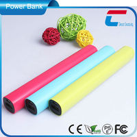 Various colors Lipstick mobile phone 5000mah power bank for CE certificate