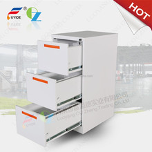 Top quality metal handle used office mobile 3 drawer cabinet filing