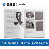 Beautiful promotional glossy Customized Poster printing Folded For Food factory MADE IN CHINA