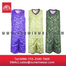 Camo Basketabll Jerseys sublimated, Custom Basketball Uniforms