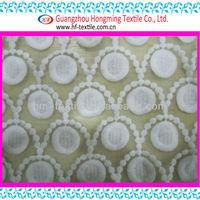 100% cotton thread on the nylon organza ground fabric