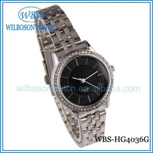 Beautiful stainless steel back wrist black watch