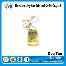 sublimation thick dog tag necklace stainless steel