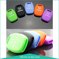 Colorful silicone car key cover for Honda protecting car key car key case 3-button