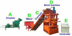 SY1-10 fully automatic eco maquinas soil cement/clay block machine hydraulic