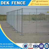 Portable Galvanized Temporary Construction Chain Link Fence