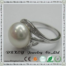 Wedding Anniversary Party Fashion 925 Sterling Silver Cubic Zirconia rings