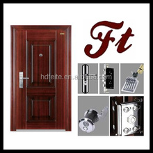 china new model best price flower embossed red steel door high quality steel security doors