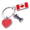 new custom metal souvenir Canada keychain