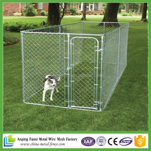 Dog Kennel 3 x 3 x 1.8 DIY Box Kennel Chain Link Dog Pet System, Run for Chicken Coop, Hens House