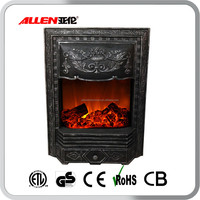 Antique 220V CE Certificated Decorative Electric Fireplace Insert Heater with Lowes