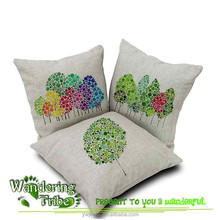 2015 New modern minimalist Watercolor tree Balloon series of cotton and Linen cushion covers Home decor Pillow Case
