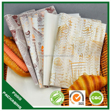 custom printed burger wrapping paper roll