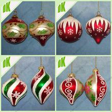 Coastal Ornaments Christmas Balls - Iridescent Ornament, Tear Drop Ornament, glass Clear Balls christmas street decorations