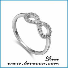 Factory Price Wholesale Gemstone Garnet Rose Gold Sterling Silver Wedding Rings