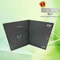 PP 7mm Long Single Black dvd case dvd storage box with smooth sleeve