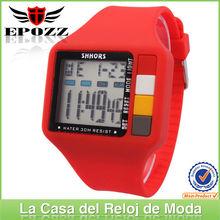 Nuevo y sensacional reloj digital moderno, estilo a la moda, diversos colores.