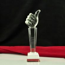 customed nuevo de la mano de cristal trofeo