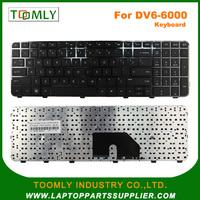 laptop keyboard for HP laptop keyboard replacement Pavilion DV6-6000 with Frame US Blacklit keyboard 640436-001