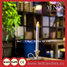 """Taper Candle-4.6"""" Battery Operated LED Candle w/ Timer & Base"""