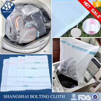 wholesale folding polyester mesh laundry bag for lingerie