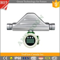 Wide range threaded flowmeter, alcohol beer digital liquid flow meter, flowmeter for beer made in China