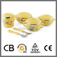 New Coming children's tableware/stainless steel and plastic tableware