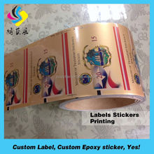 removable printing self adheisve honey can label, most popular custom printed canned food label
