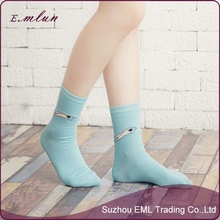 2015 Joker color matching combed cotton socks wholesale
