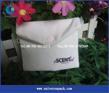 Zipper With Snap Fastener Envelope Bags Packing Bag White Velvet