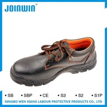 All leather safety shoes with steel toe