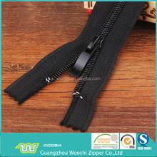 5# fim próximo preto de nylon coil zipper com controle deslizante de moda para o revestimento de bolso