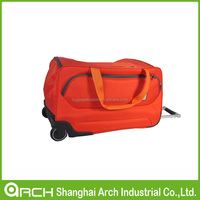 Orange travel trolley bag