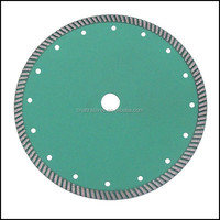 Ceramic tile using sintered continuous rim turbo circular diamond saw blade