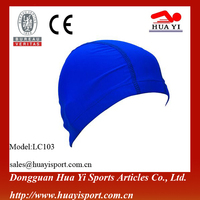 Customized free size durable Nylon and spandex material Lycra swim caps
