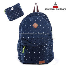 2015 Best Selling High Quality Foldable Popular Dots Printing Travel bag