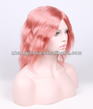 Wholesale Indian lace wig Hot Sexy Loose Wave medium copper red 130# 12inch Indian Hair full lace wig
