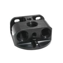 Mechanical Parts & Fabrication Services hareware thread pin fitting black anodized aluminum 6061 t6