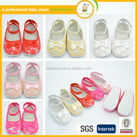 New fashion style hot selling high quality lovely baby prewalker shoes crochet fancy girl dress shoes for kids