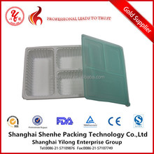 plastic compartment cutlery tray with lid