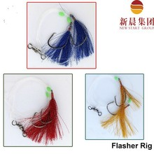 8/0 hook red blue yellow flash sea flasher rig for fishing NSG040005