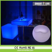 Outdoor Glowing LED rotational cube seat/LED Chair with Color Changing