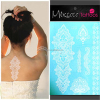 Body Temporary Flash Tattoo/ Skin jewelry Metallic temporary tattoos