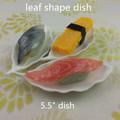 """Vajilla platos nuevo diseño de cerámica de china de hueso 5.5 """" hoja forma de plato"""