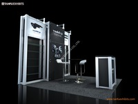 Industrial 10x10 3x3 Exhibition Stall Booth with Shelf or Shelving
