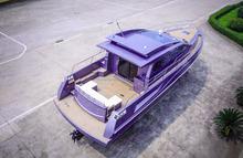fiberglass yacht with accommodation