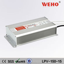 Good quality constant voltage 15v dc power supply led driver 150w